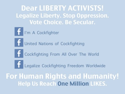 LIBERTY ACTIVISTS HELP US REACH ONE MILLION LIKES FOR HUMAN RIGHTS AND HUMANITY