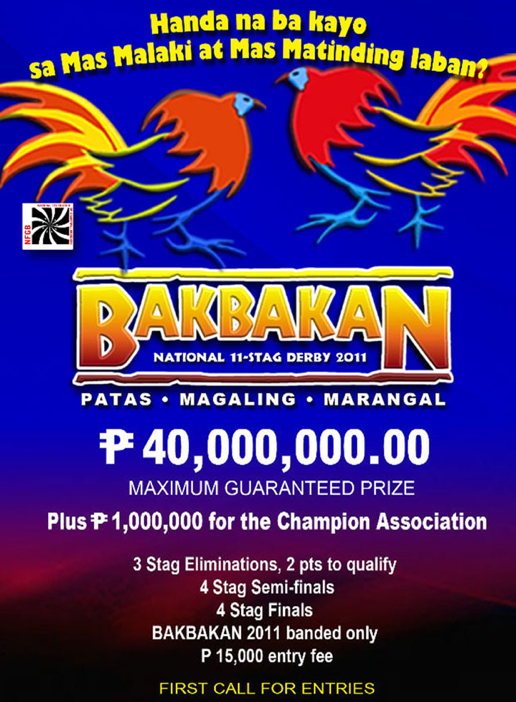 Bakbakan Philippine Cockfighting 2011