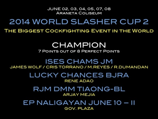 2014 World Slasher Cup 2 Results | Gameness til the End